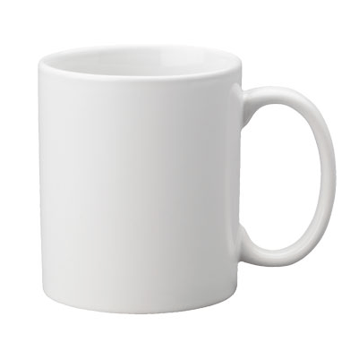 11 or 15 ounce white customizable coffee mug