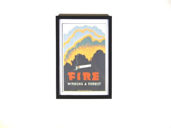 WPA poster linking cigarettes to forest fires