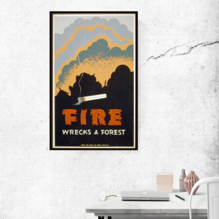 WPA poster showing how fire can destroy a forest