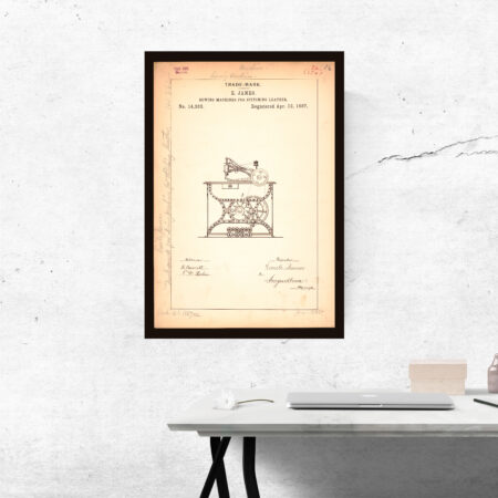 sewing machine trademark poster