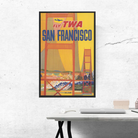 TWA travel poster of San Francisco