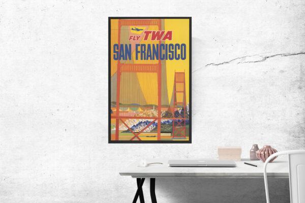 TWA travel poster of San Francisco