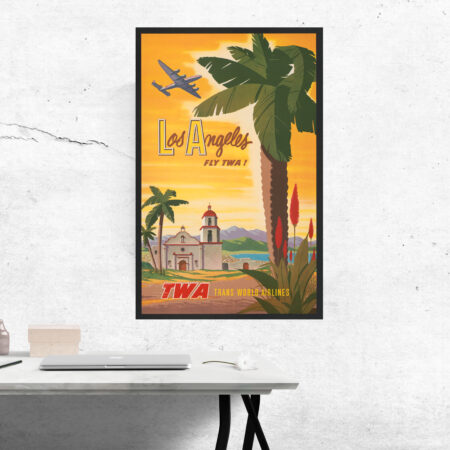 TWA travel poster of Los Angeles