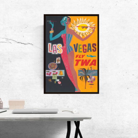 TWA travel poster of Las Vegas
