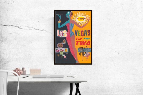 TWA travel poster of Las Vegas